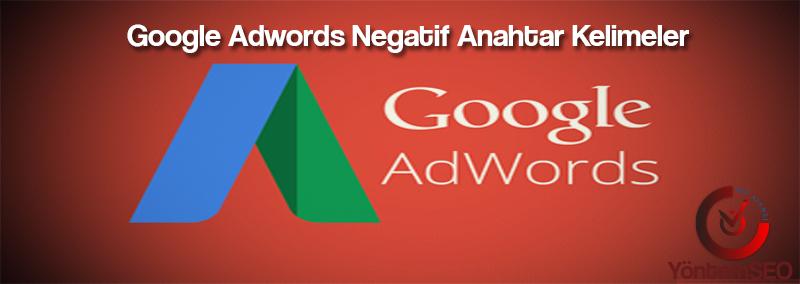 google-adwords-negatif-kelimeler